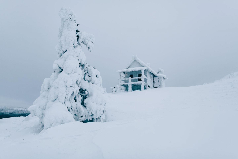 Santa's Cabin in Levi, Lapland in winter