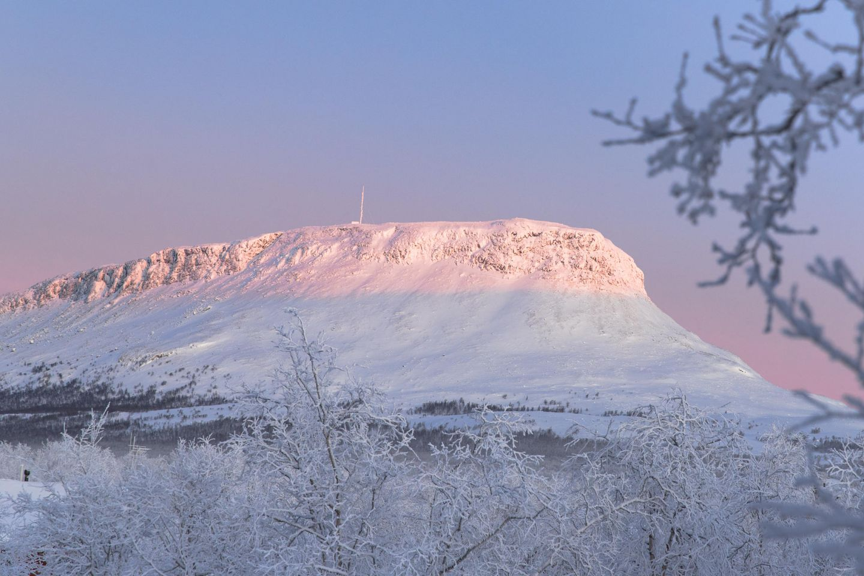 Saana Fell in Kilpisjärvi, Lapland in winter