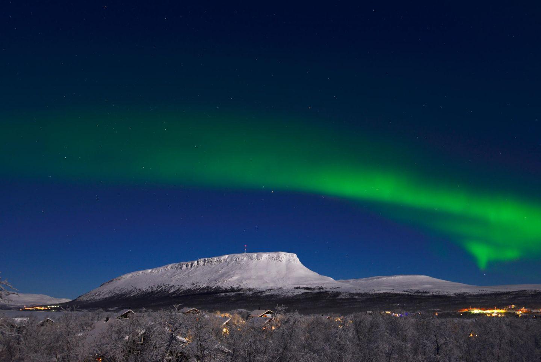 Northern Lights above Saana Fell in Kilpisjärvi, Finland