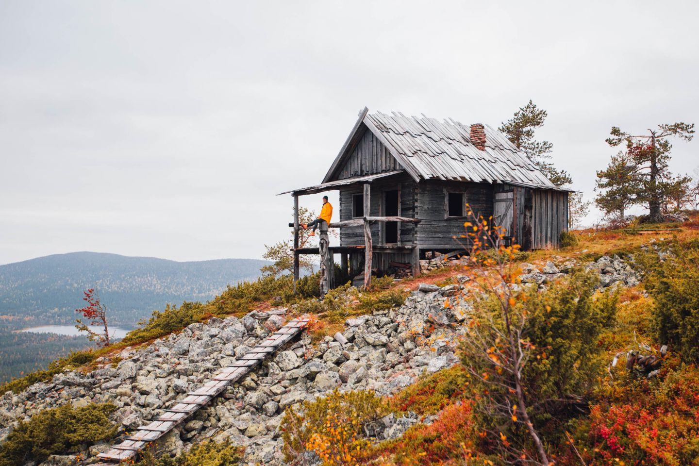 Santa's Cabin in Levi in autumn