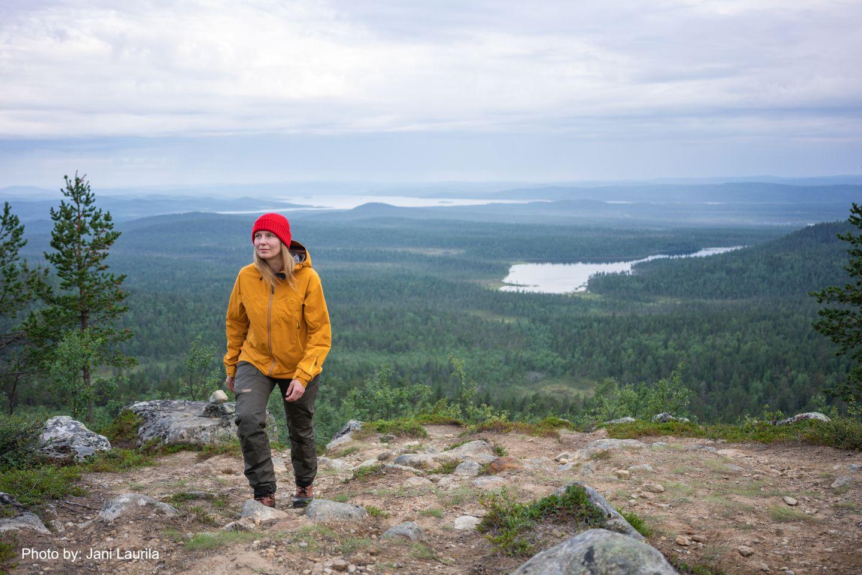 Hiking in summer in Inari, Finland