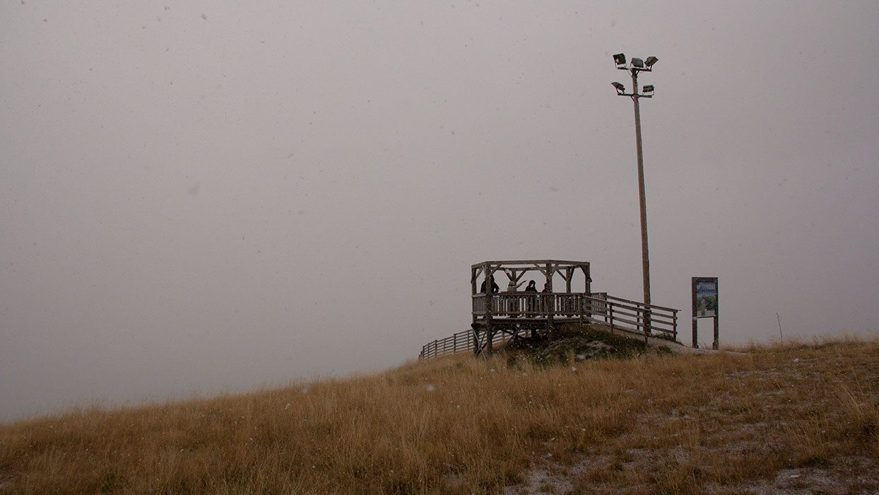 Surprise snowstorm atop Pyhä Fell