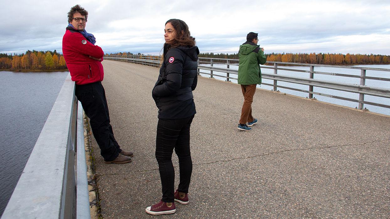 Waiting on the bridge to Suvanto, Finland