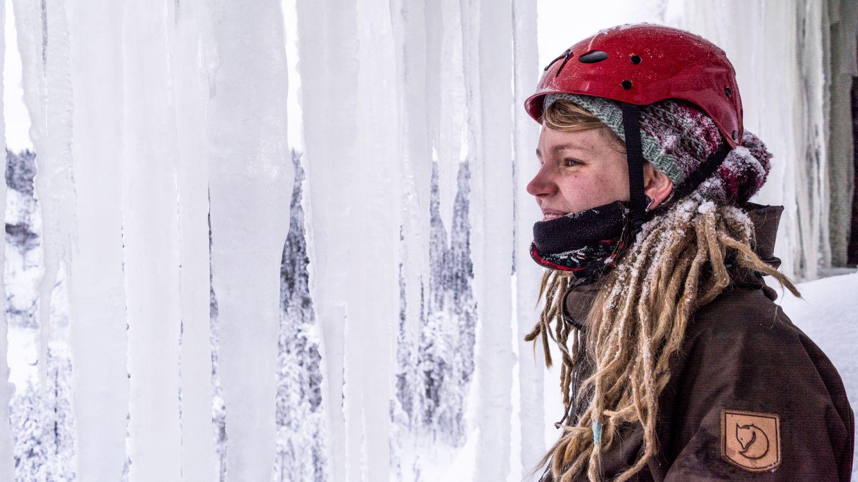 Opas Pirita Sihvo jääkiipeily