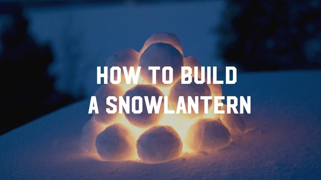 How to build a Lapland snow lantern