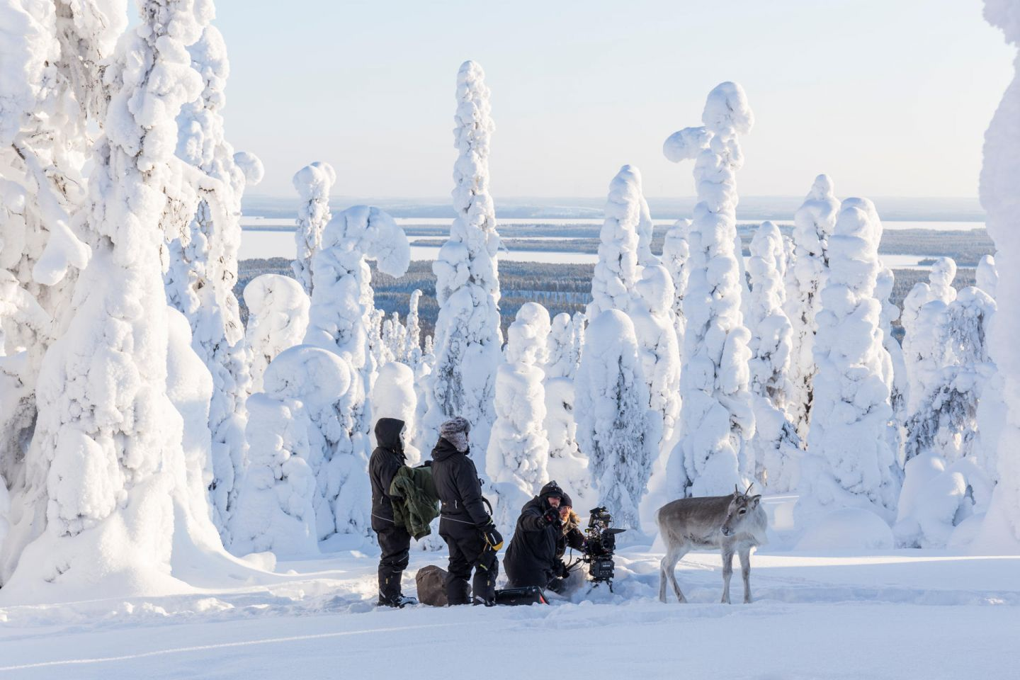 Behind the scenes of reindeer film Ailo's Journey in Lapland, Finland