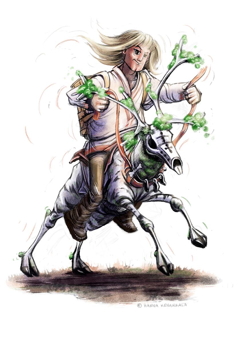 Franken-reindeer monster legend from Kalevala