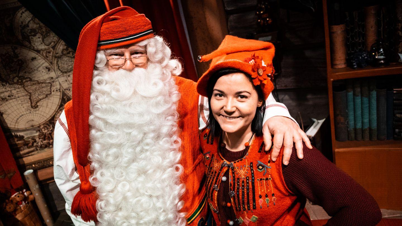 Joulupukki ja Vanilja-tonttu joulupukin Kammarilla