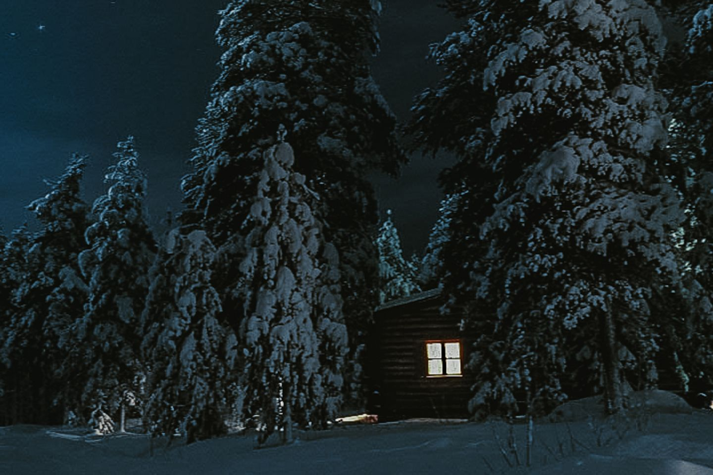 Night photography, Lapland Winter Photography, Levi, Polar Night