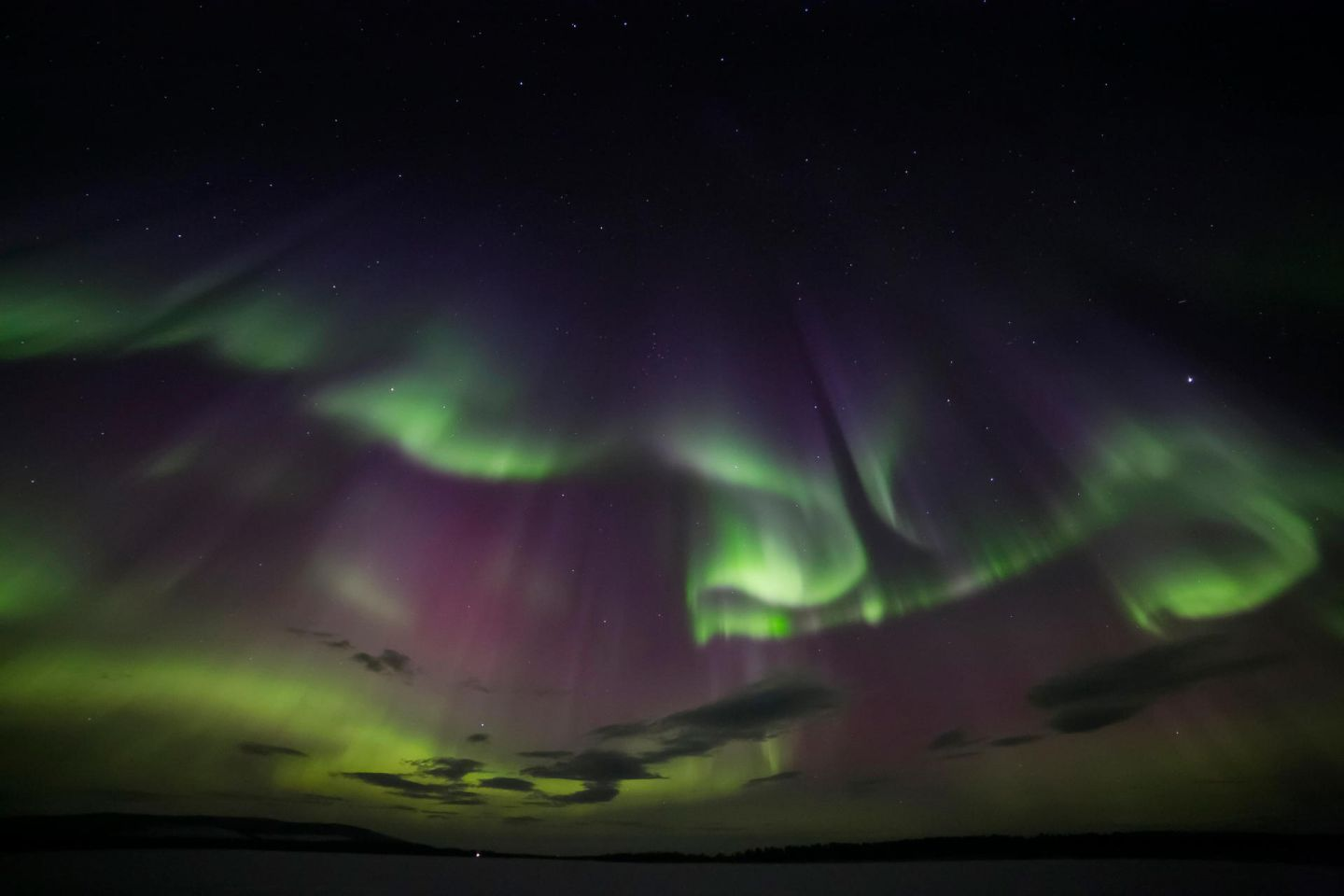 Northern Lights over Kemi, Finnish Lapland