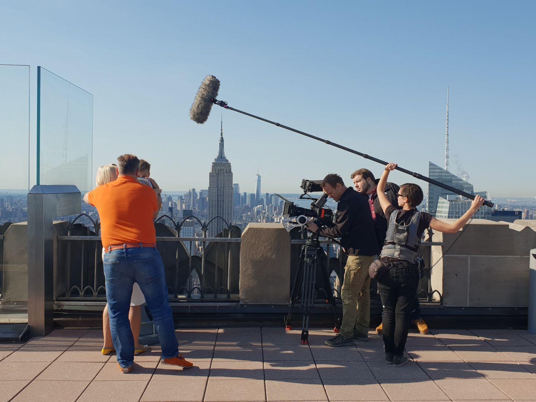 Oktober on location in New York City