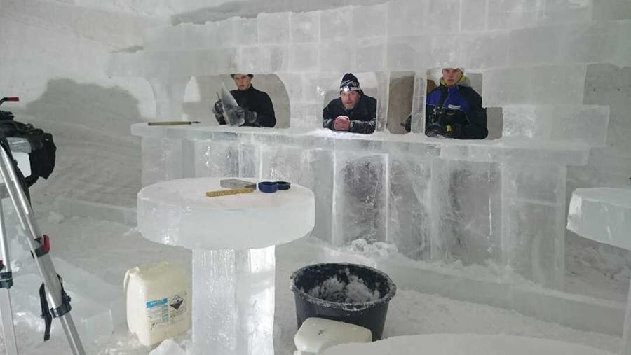 Ice building, Lapland Finland Lapland Finland Snow Sculpture