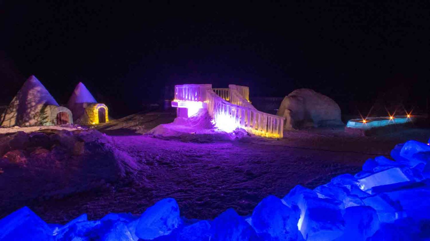 Ice building in Ranua, Lapland Finland Snow Sculpture