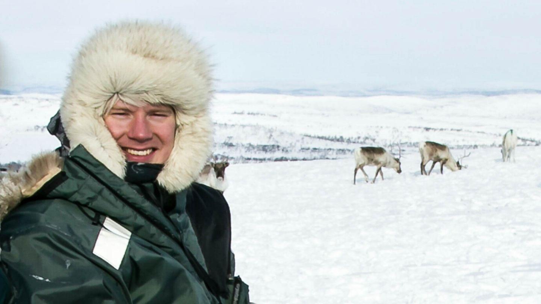 Reindeer herder Aslat-Jon Länsman in winter