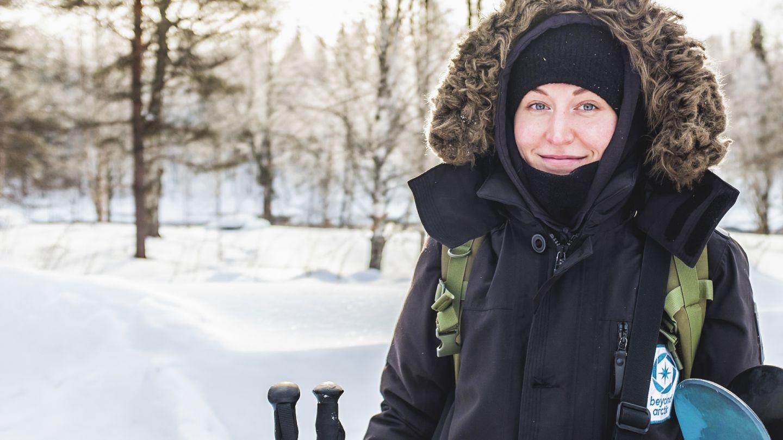 female guide in lapland