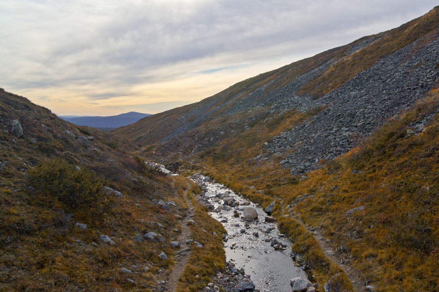 A river canyon in Finnish Lapland