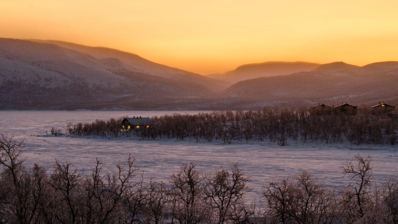 Talvimaisema Kilpisjärvellä.