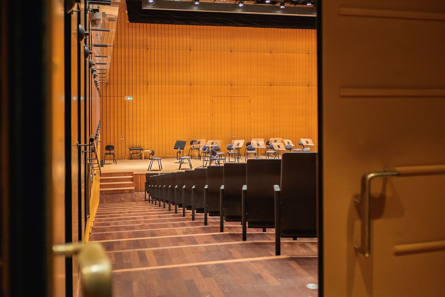 Lapland Chamber Orchestra concert hall stage.
