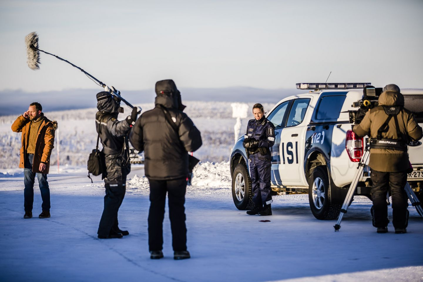 Behind the scenes on Arctic Circle, filmed in northernmost Finland