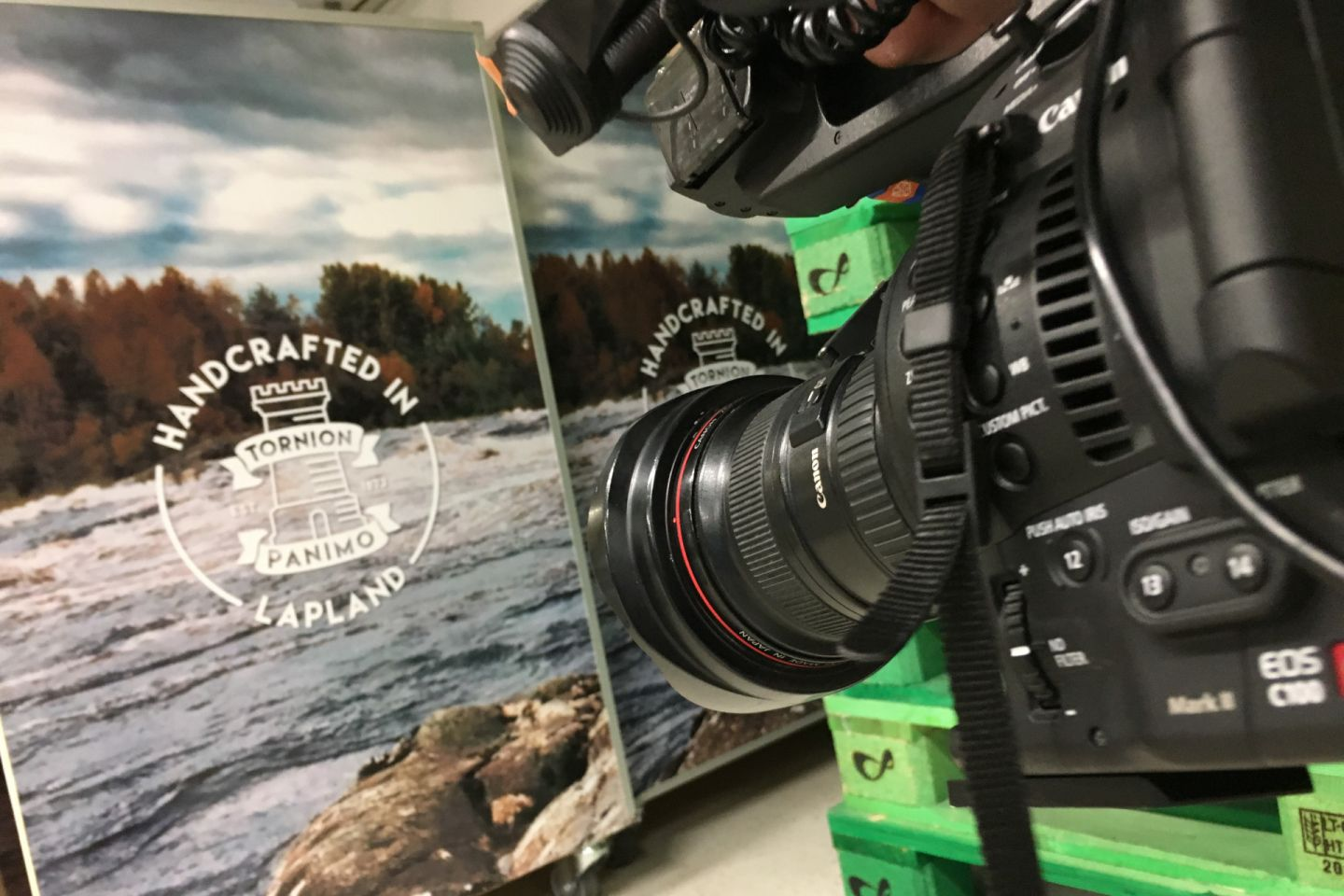 Lapin Panimo brochure, behind the scenes with Lapland Film Services