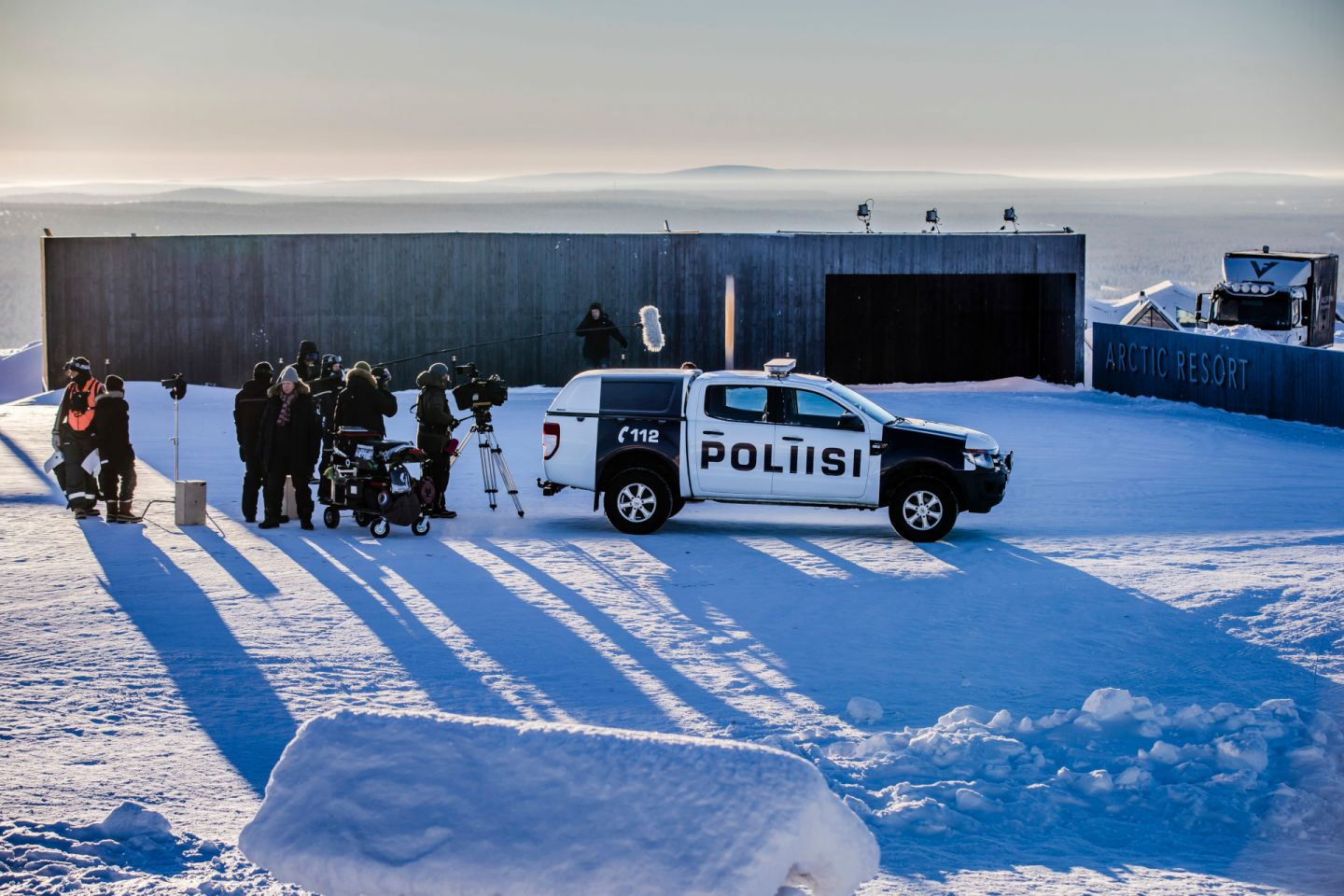 Behind the scenes of Arctic Circle, filmed in northern Finland