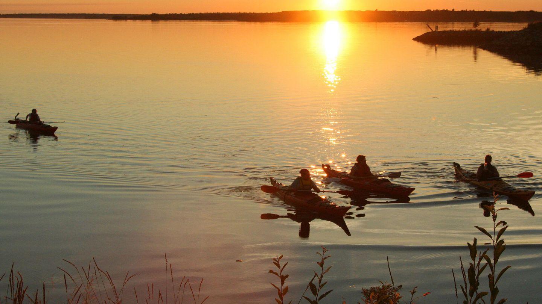 Kayaking in Finland, Lapland