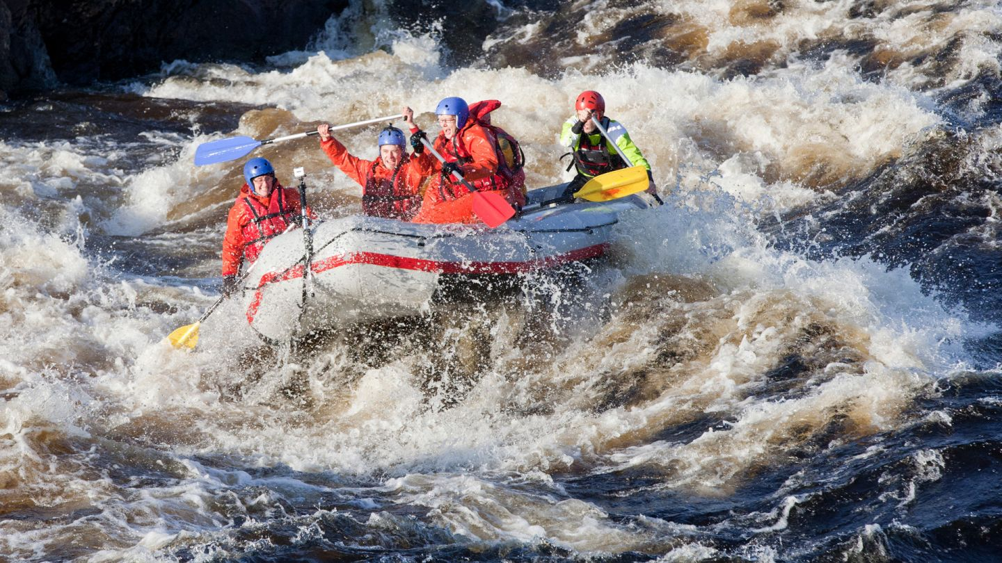 Rafting in Finland, Lapland