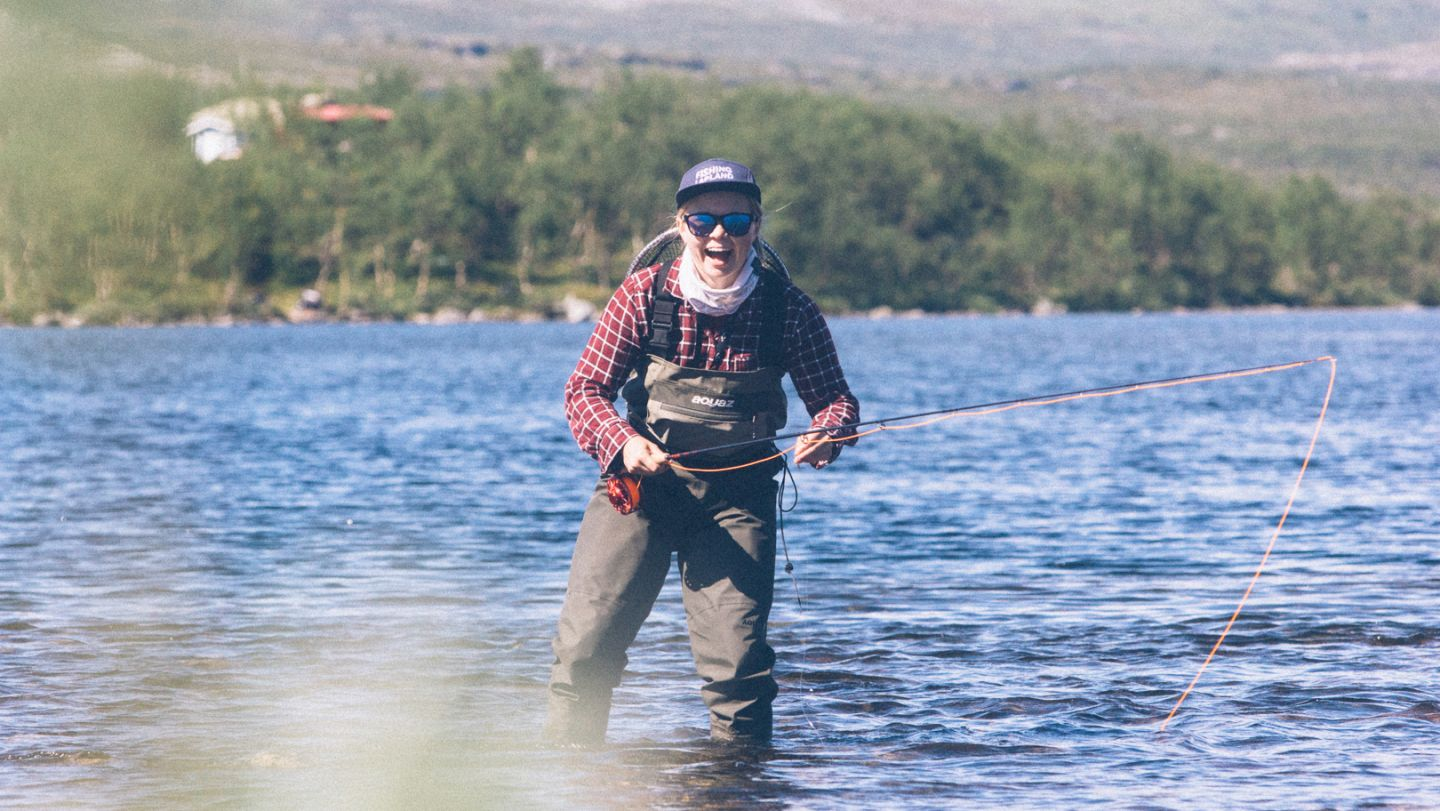 Fly fishing in Lapland