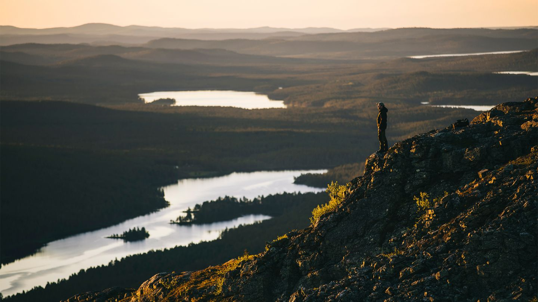 Lemmenjoki, beginner hiking Lapland, Finland