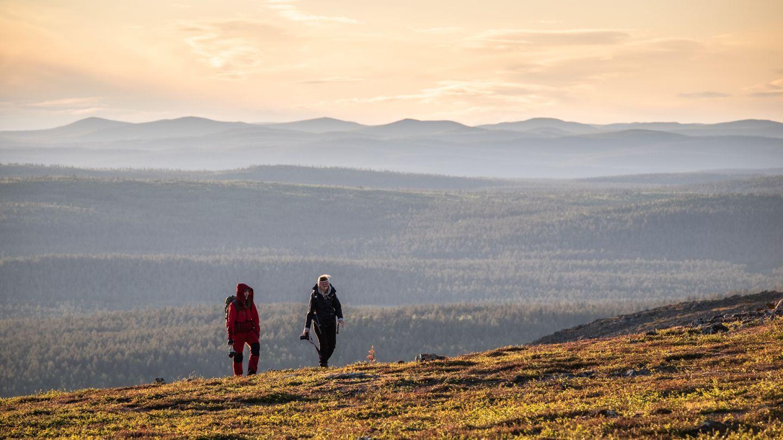 Yöttömän yön maisemat Lemmenjoen kansallispuistossa