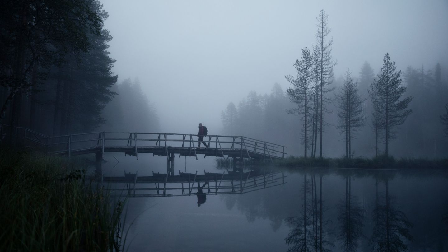 Hiking in Lapland, early morning