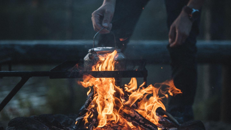 Campfire, Beginner hiking Lapland, Finland