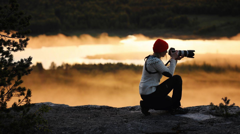 Photographing, beginner hiking Lapland, Finland