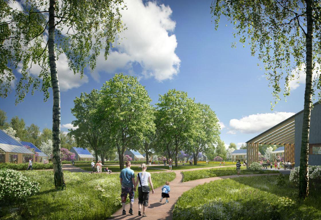 Illustration of Arctic Smart Village concept