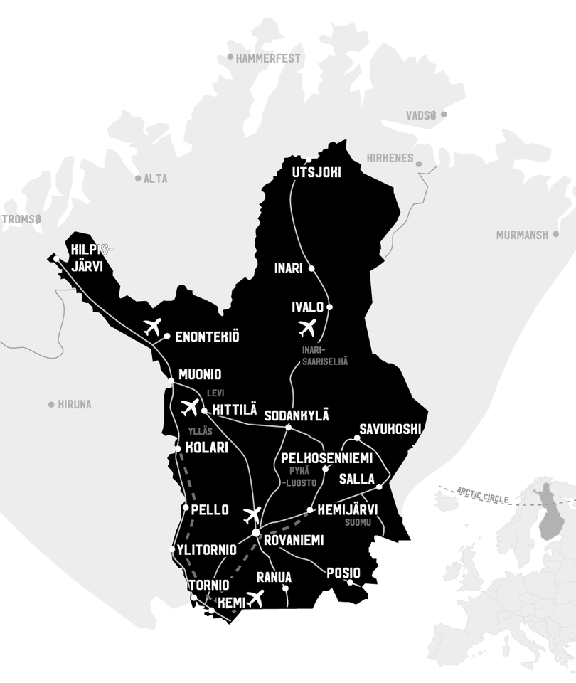 Map of Lapland
