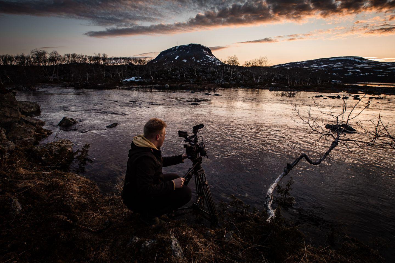 Filming Saana fell in Kilpisjärvi