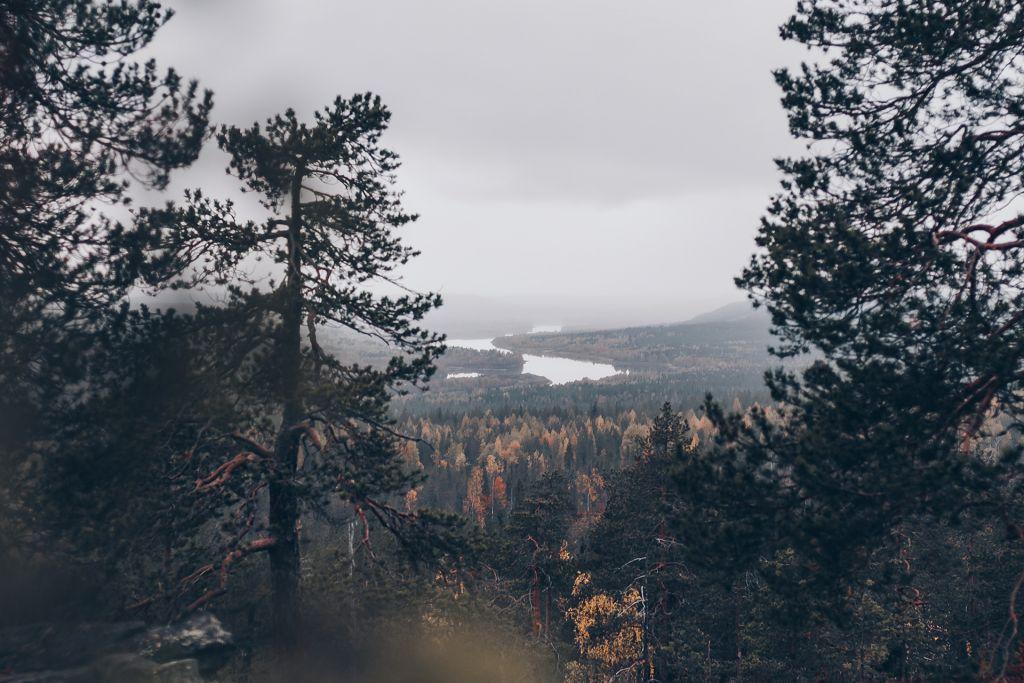 Näkymä Santavaaralta Ounasjoelle