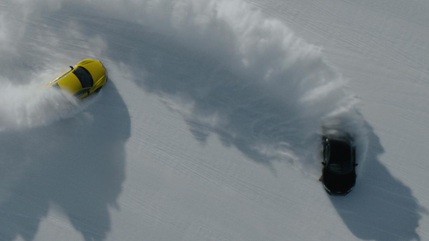 Car chase for War, filmed on a frozen lake in Rovaniemi, Finland