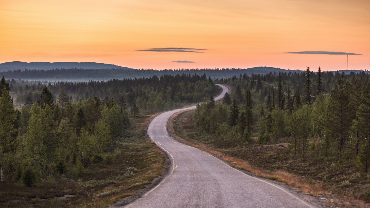 Inari-Pokka the most beautiful road in Finland, Lapland