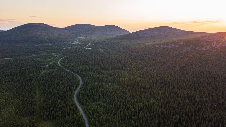 Pallas, Muonio, the most beautiful road in Finland, Lapland