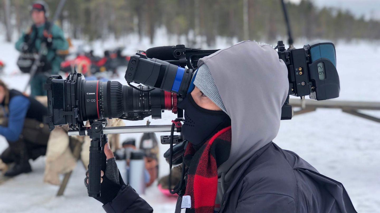 Filming KUWTK in Finnish Lapland.
