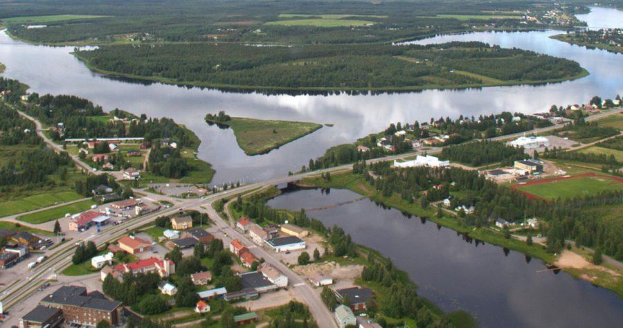 Aerial view ilmakuva Pello