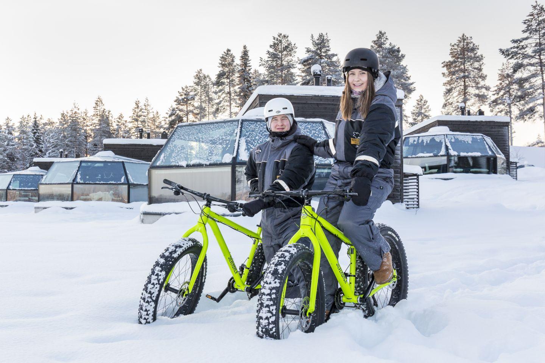 Ranua pyöräilijät talvella