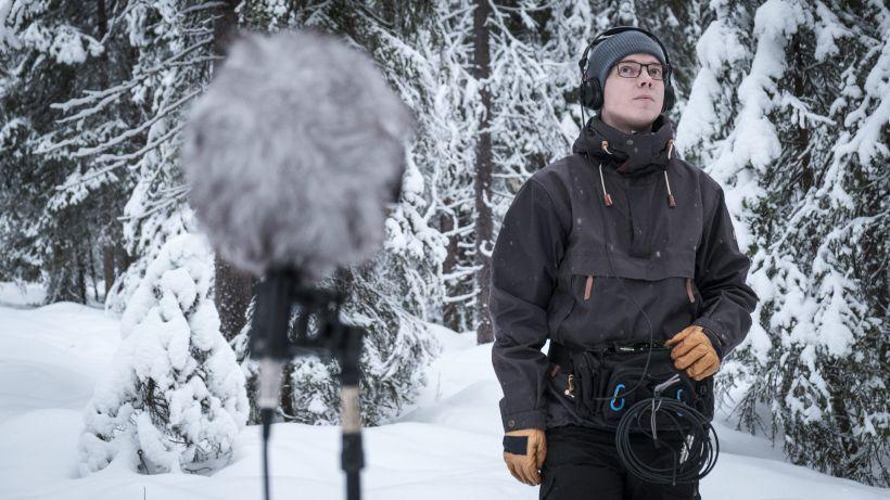 Äänisuunnittelija Heikki Illikainen Ounasvaaralla