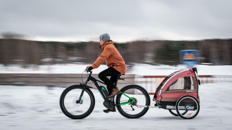 Työmatkapyöräilyä Lapissa