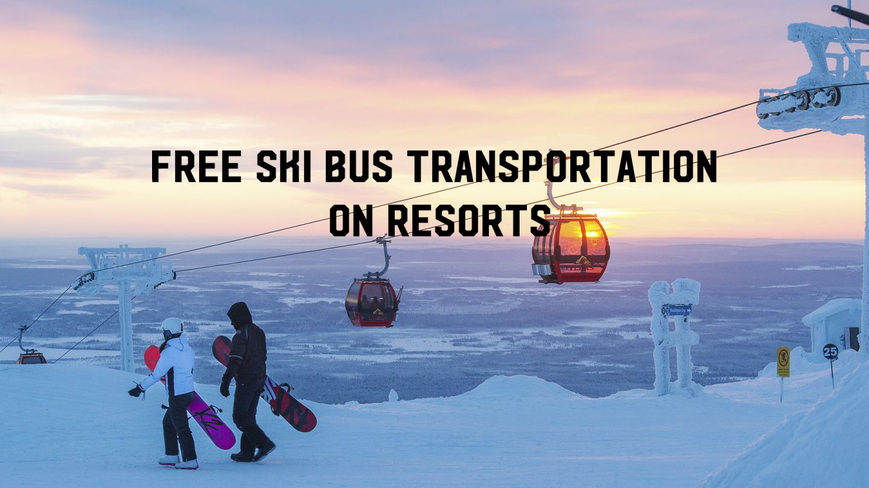 ski bus transportation lapland