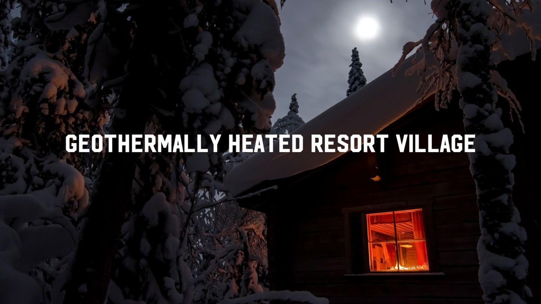 Geothermal heating resort Lapland