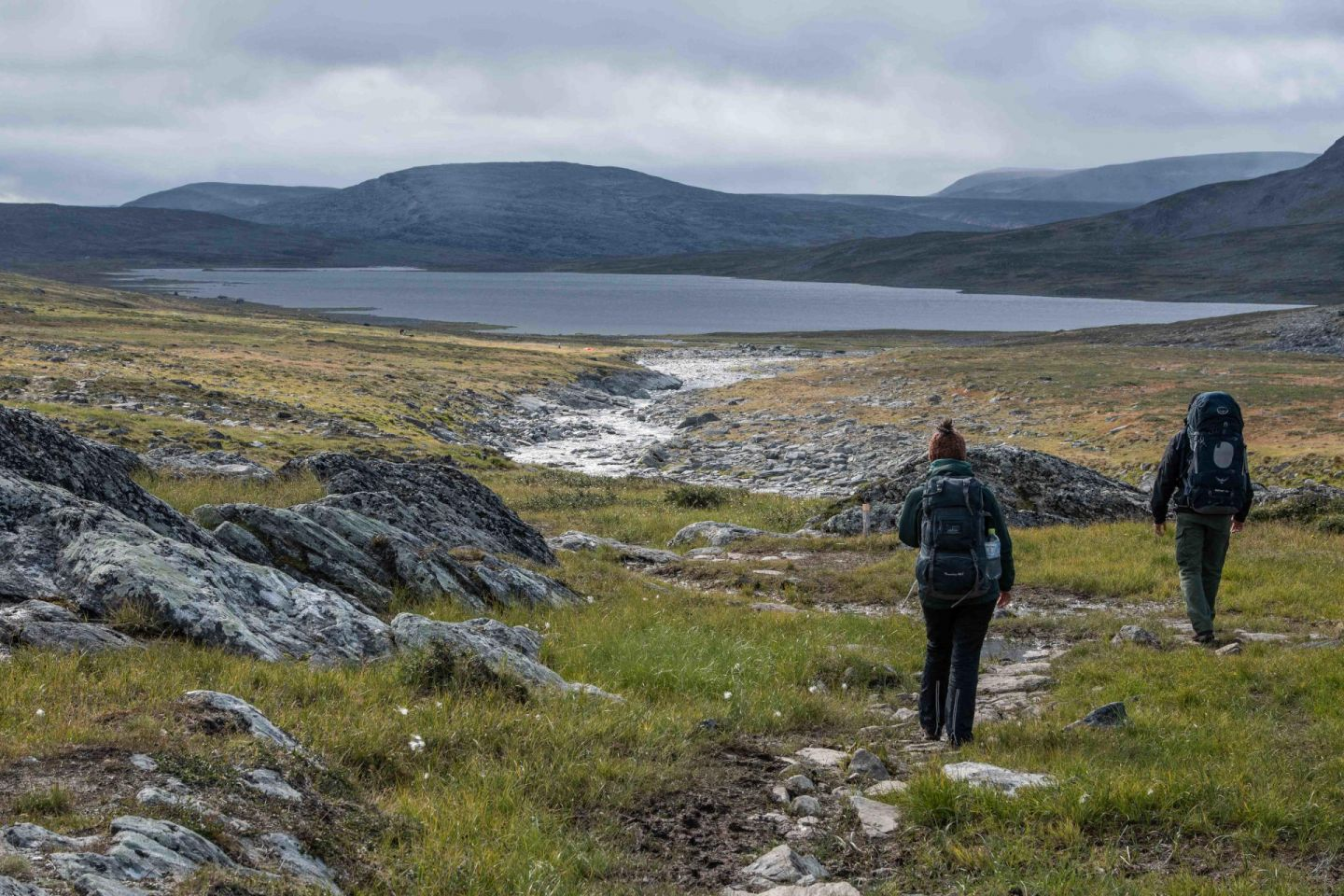 Hiking Halti fell with Adventure by Design, in Finnish Lapland