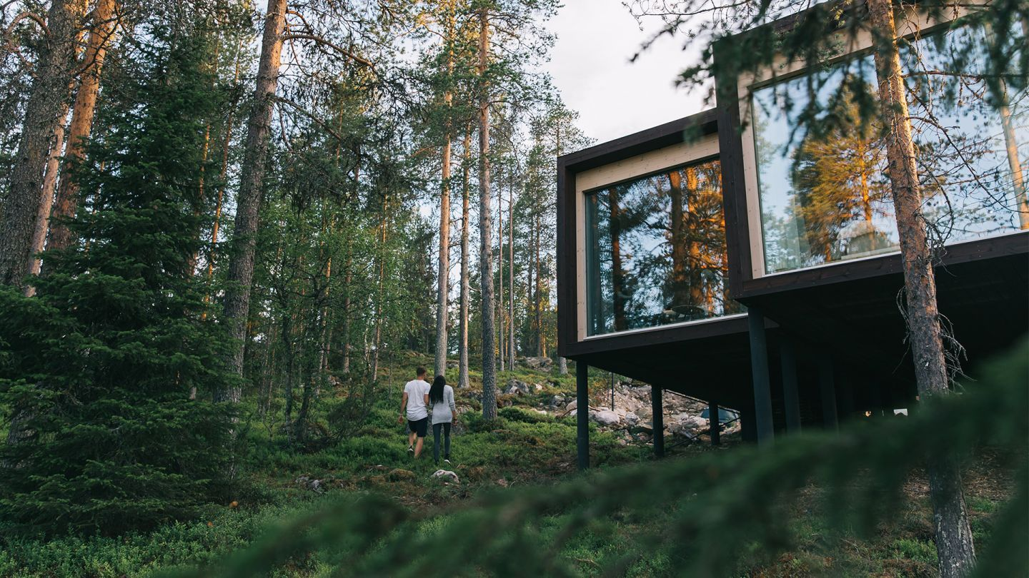 Responsible traveling in Lapland, sustainable accommodation