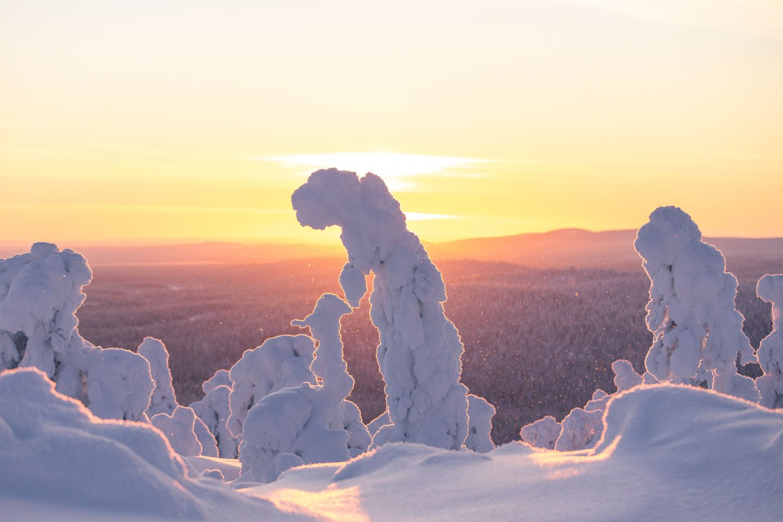 Winter in Salla, Lapland, Finland